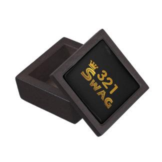 321 Area Code Swag Premium Keepsake Box