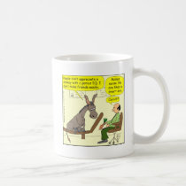 321 donkey genius smart a$$ color cartoon coffee mug
