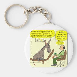 321 donkey genius smart a$$ color cartoon keychains