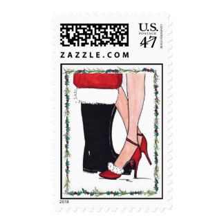321 Mommy Kissing Santa Postage