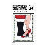 321 Mommy Kissing Santa Stamps