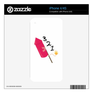 321 Rocket Skin For iPhone 4