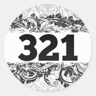 321 ROUND STICKERS