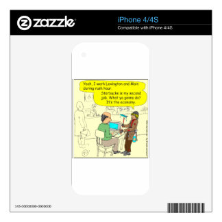 322 Squeegee man color cartoon Skin For iPhone 4S