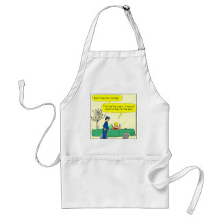 323 Free texting ticket color cartoon Apron