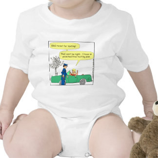 323 Free texting ticket color cartoon Rompers