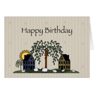 3258 Saltbox Houses Birthday Card