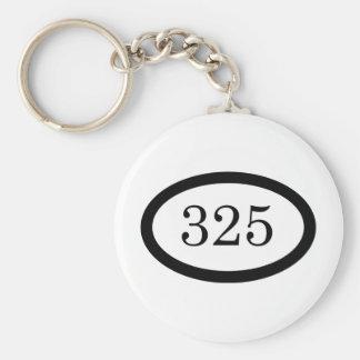 325 Parachute Infantry Basic Round Button Keychain