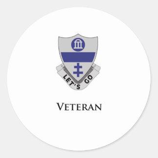 325- Veterano Pegatina Redonda