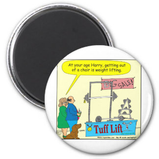 325 weight lifting and getting older color cartoon refrigerator magnet