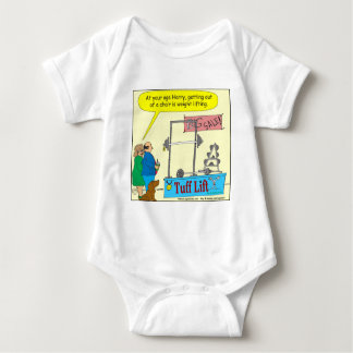 325 weight lifting and getting older color cartoon infant creeper