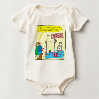 325 weight lifting and getting older color cartoon rompers