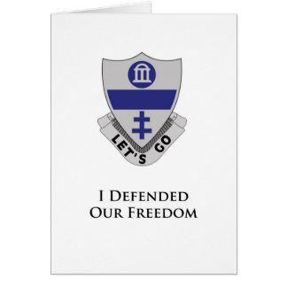 325o PIR- I defendió nuestra libertad Tarjeta De Felicitación