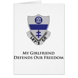 325o PIR- mi novia defiende nuestra libertad Tarjeta De Felicitación