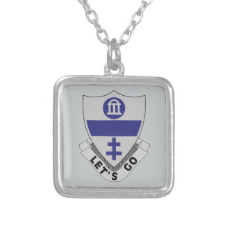 325th Infantry Regiment - DUI - LET'S GO Silver Plated Necklace