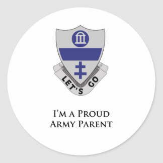 325th PIR- I'm a Proud Army Parent Classic Round Sticker
