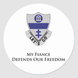 325th PIR- My Fiance Defends Our Freedom Round Stickers