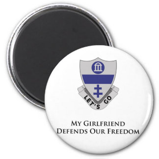 325th PIR- My girlfriend Defends Our Freedom Magnets
