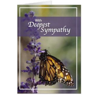 3261 Butterfly  Montage Sympathy Greeting Card