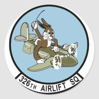326th Airlift Squadron Classic Round Sticker