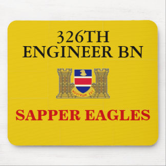 326TH ENGINEER BATTALION SAPPER EAGLES MOUSEPAD