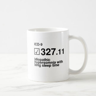 327.11, Idiopathic hypersomnia with long sleep tim Classic White Coffee Mug