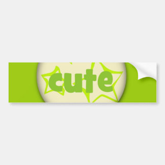 327 CUTE GREEN STARS COMPLIMENTS SAYINGS EXPRESSIO BUMPER STICKER