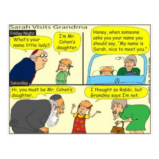 327 grandma said Cartoon Postcard