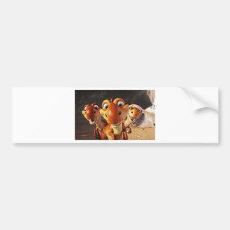 3280-3d-funny-animal.jpg bumper sticker