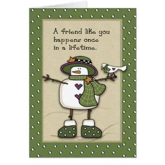 3280 Snow Lady Best Friends Card