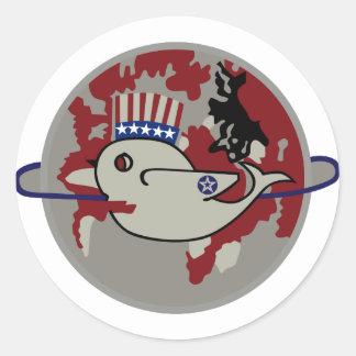328o Escuadrilla de la bomba Pegatina Redonda