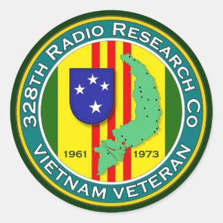 328o RRC - ASA Vietnam Pegatinas Redondas