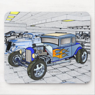 32 5 Window Ford Rod Mouse Pad