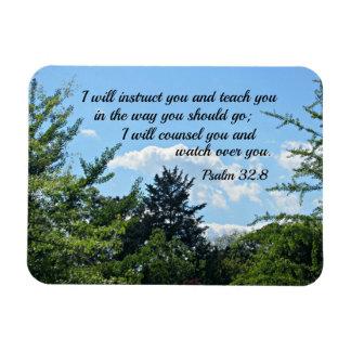 32:8 del salmo le daré instrucciones y le enseñaré imán