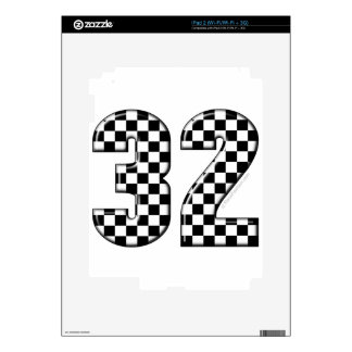 32 auto racing number decal for iPad 2