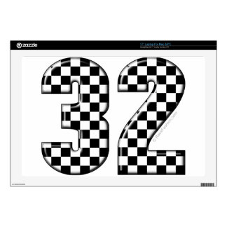 32 auto racing number laptop skins