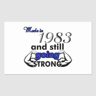 32 birthday design rectangular sticker