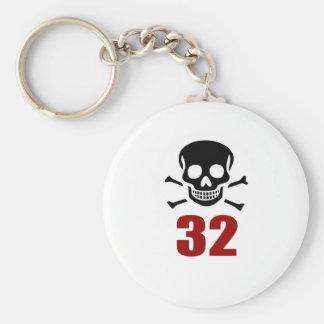 32 Birthday Designs Keychain