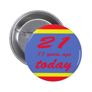 32 birthday pinback button