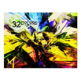 32 Colors Postcard
