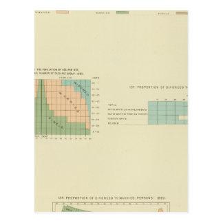 32 Conjugal condition, divorced 1890 Postcard