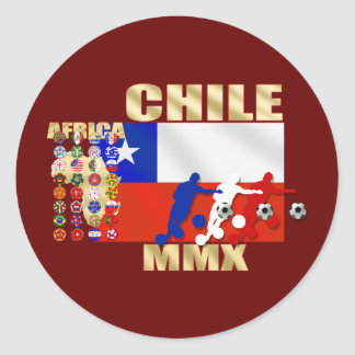 32 Country Chile MMX flag 2010 La Roja Gifts Classic Round Sticker