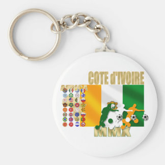 32 Country Ivory Coast Cote d'Ivoire gifts Basic Round Button Keychain