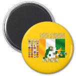 32 Country Ivory Coast Cote d'Ivoire gifts Fridge Magnets