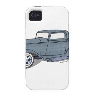 32 cupé del Deuce de la ventana de Ford 3 Vibe iPhone 4 Carcasas