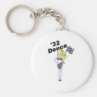 32 Deuce Blonde Basic Round Button Keychain