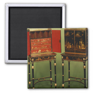 32: Dos gabinetes del Chinoiserie, c.1770 Iman De Frigorífico
