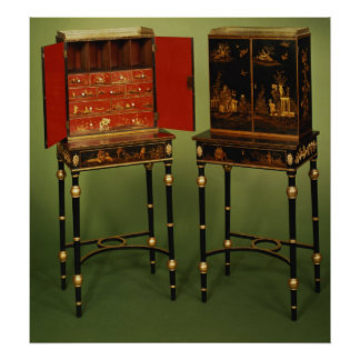 32: Dos gabinetes del Chinoiserie, c.1770 Posters