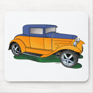 32 Ford 5 window Coupe Orange/blue Mouse Pad