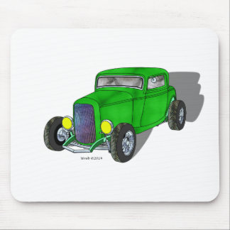 32 Ford HiBoy 3 Window Coupe – Green Mouse Pad